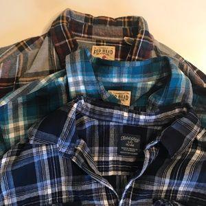 3 Large Men's Plaid Flannels